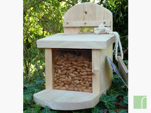 Wooden Squirrel Nut Feeder