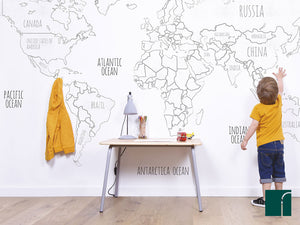 World-Map-Wall-Mural