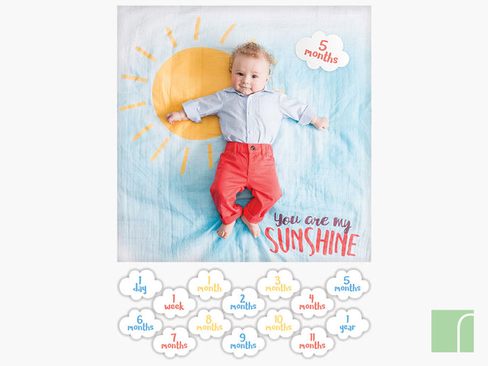 You are my sunshine Baby milestone set