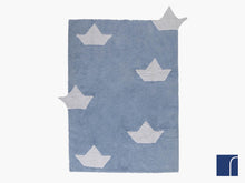 Blue Boat Washable Rug