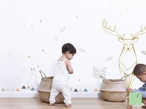 bunny-and-snowflakes-wall-stickers