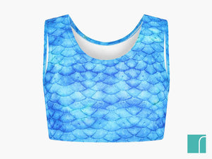 Blue mermaid top