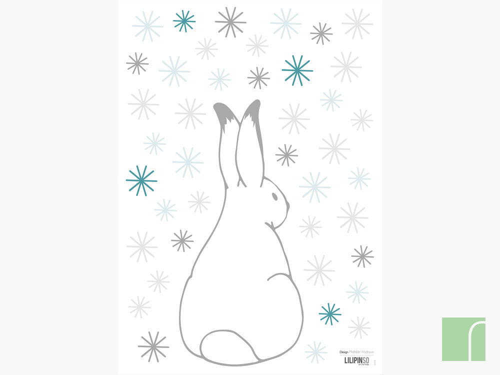 rabbit-and-snowflakes-stickers