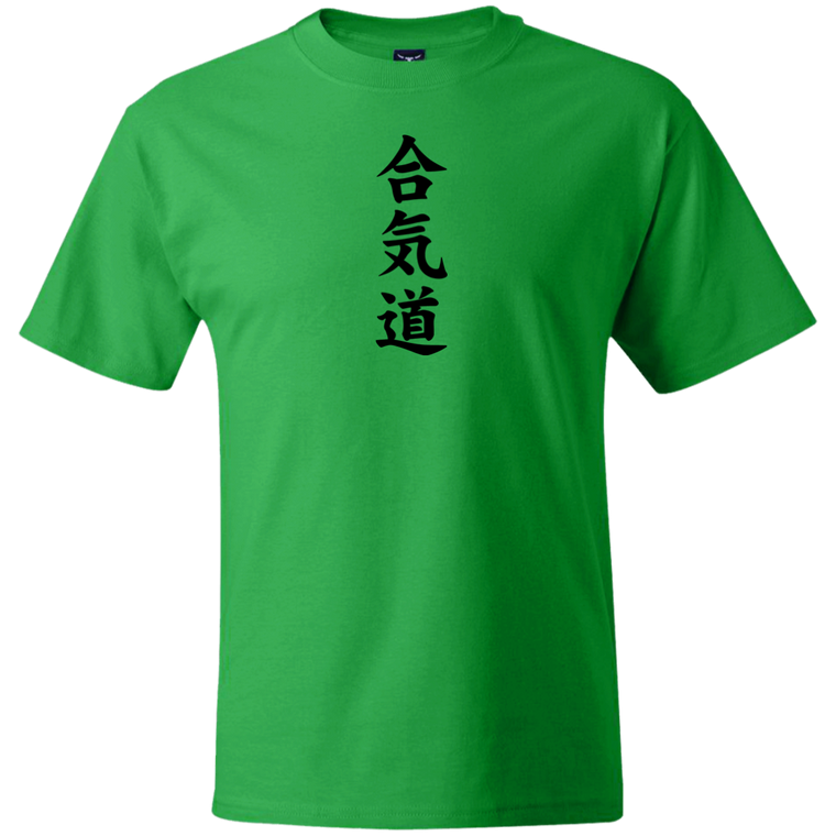 Aikido Kanji Under Gi T-Shirt - Martial Arts, Brazilian Jiujitsu, Karate, Muay Thai Shirts