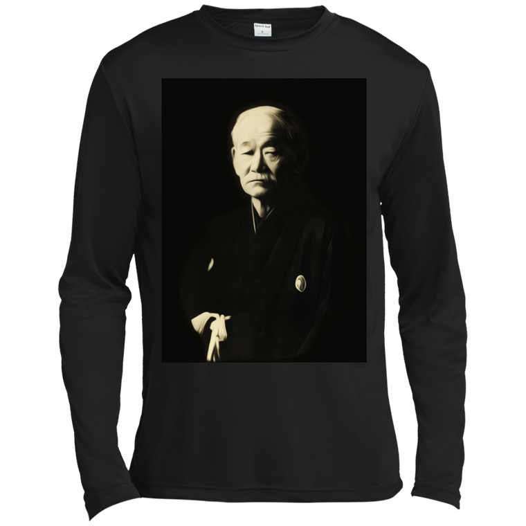 Kano Jigoro Long Sleeve Moisture Wicking - Martial Arts, Brazilian Jiujitsu, Karate, Muay Thai Shirts