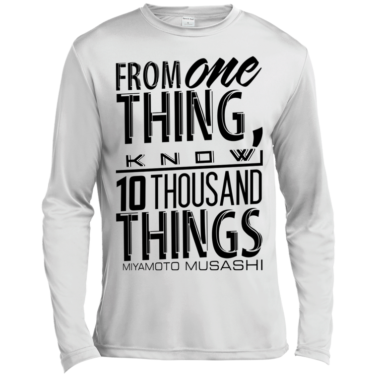 """10 Thousand Things"" Long Sleeve Moisture Wicking - Martial Arts, Brazilian Jiujitsu, Karate, Muay Thai Shirts"