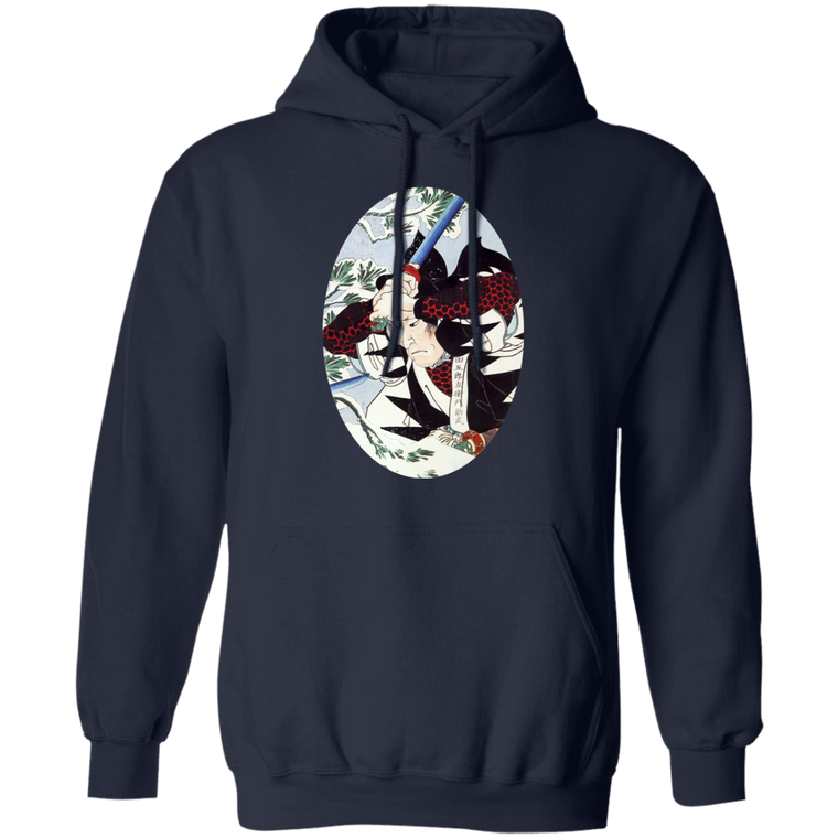 Winter Samurai Battle Hoodie - Martial Arts, Brazilian Jiujitsu, Karate, Muay Thai Shirts