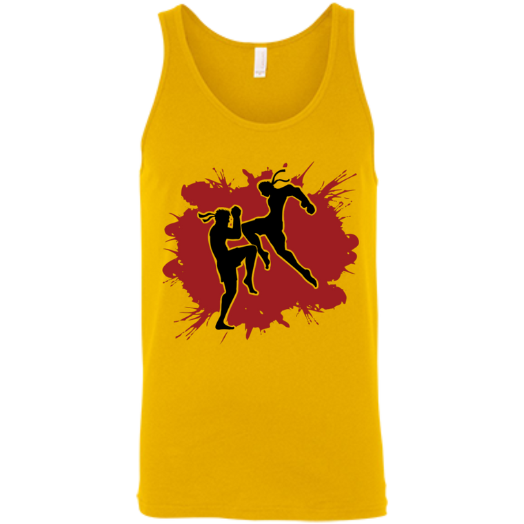 Muay Thai Flying Knee Tank Top - Martial Arts, Brazilian Jiujitsu, Karate, Muay Thai Shirts