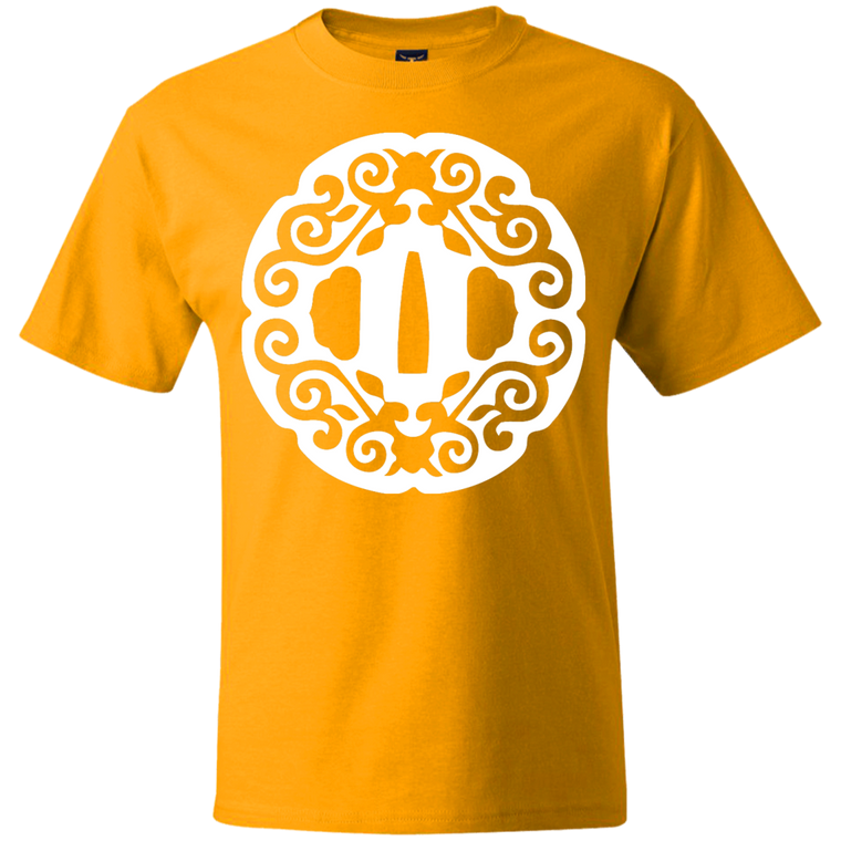 Intricate Tsuba (White) T-Shirt - Martial Arts, Brazilian Jiujitsu, Karate, Muay Thai Shirts