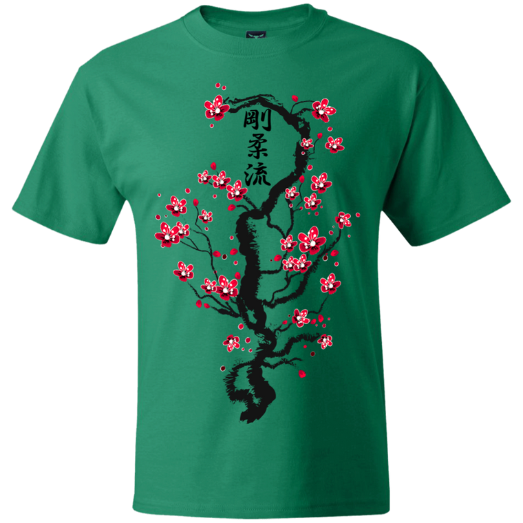 Goju Ryu Kanji Cherry Blossoms T-Shirt - Martial Arts, Brazilian Jiujitsu, Karate, Muay Thai Shirts