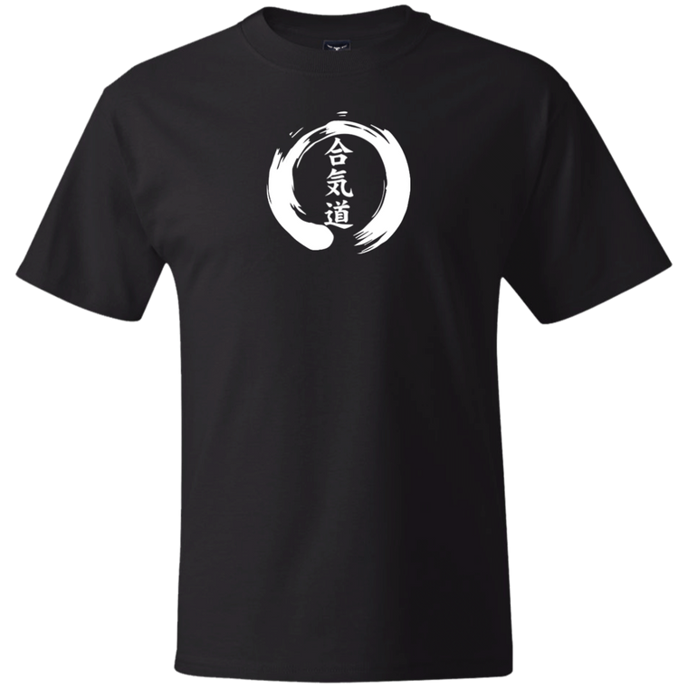 Aikido Kanji Zen Enso (White) Under Gi T-Shirt - Martial Arts, Brazilian Jiujitsu, Karate, Muay Thai Shirts