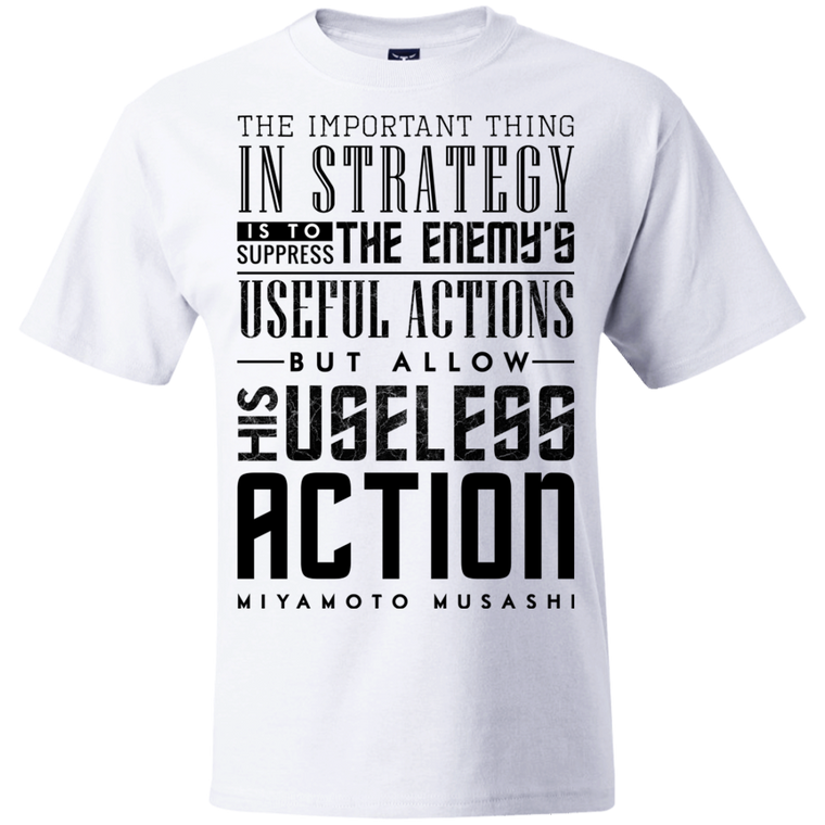 """Strategy"" Musashi Quote T-Shirt - Martial Arts, Brazilian Jiujitsu, Karate, Muay Thai Shirts"