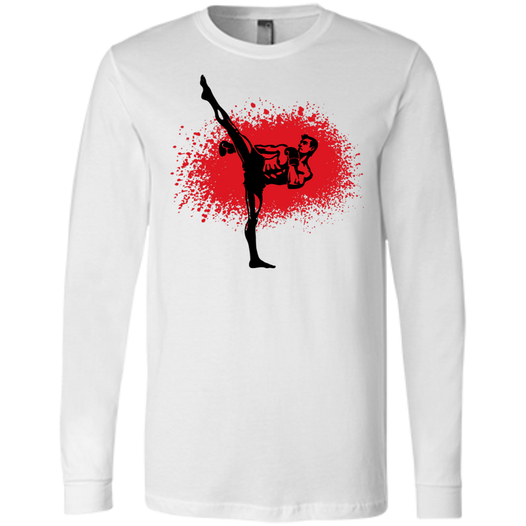Kickboxer Long Sleeve - Martial Arts, Brazilian Jiujitsu, Karate, Muay Thai Shirts