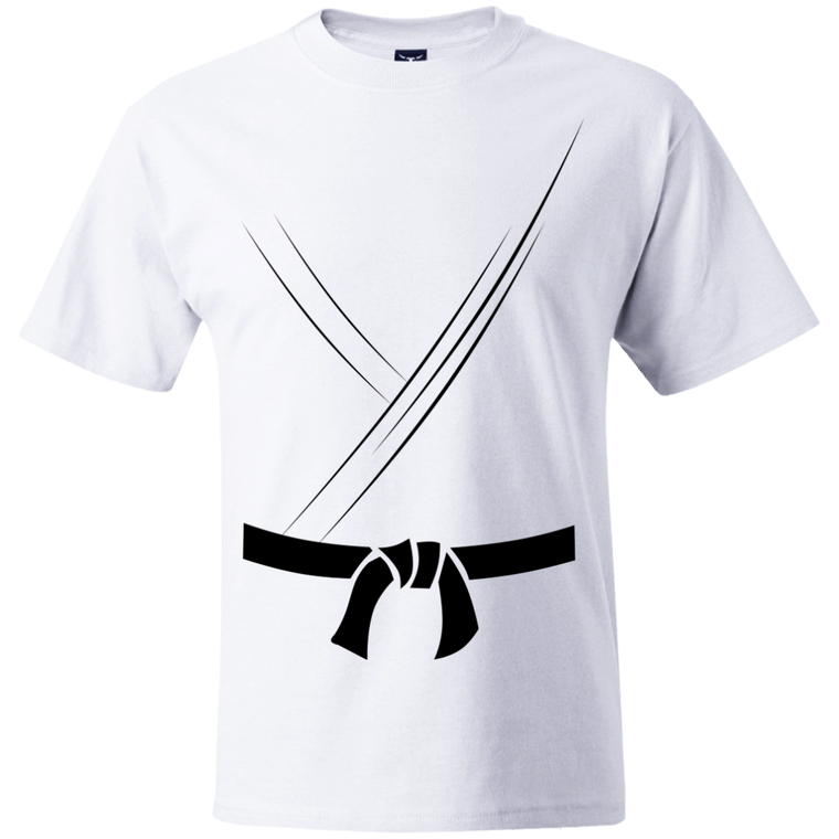 Gi with Black Belt T-Shirt - Martial Arts, Brazilian Jiujitsu, Karate, Muay Thai Shirts