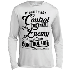 Control the Enemy  Musashi Quote Long Sleeve Moisture Wicking
