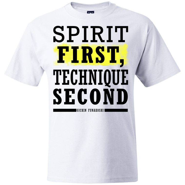 """Spirit First"" T-Shirt - Martial Arts, Brazilian Jiujitsu, Karate, Muay Thai Shirts"