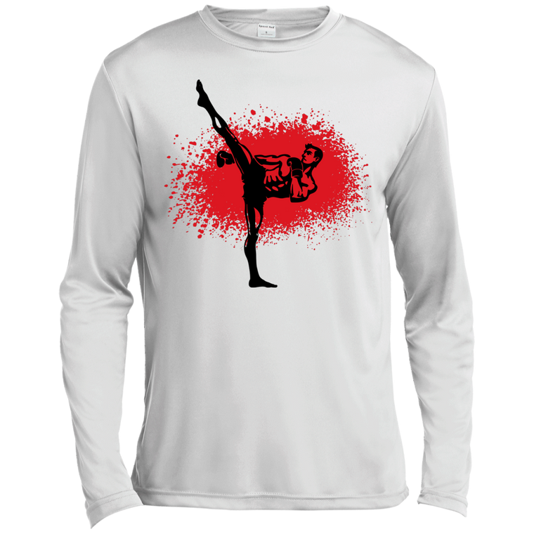 Kickboxer Long Sleeve Moisture Wicking - Martial Arts, Brazilian Jiujitsu, Karate, Muay Thai Shirts