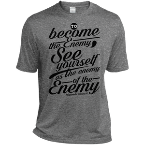 Become the Enemy  Musashi Quote Moisture Wicking Tee