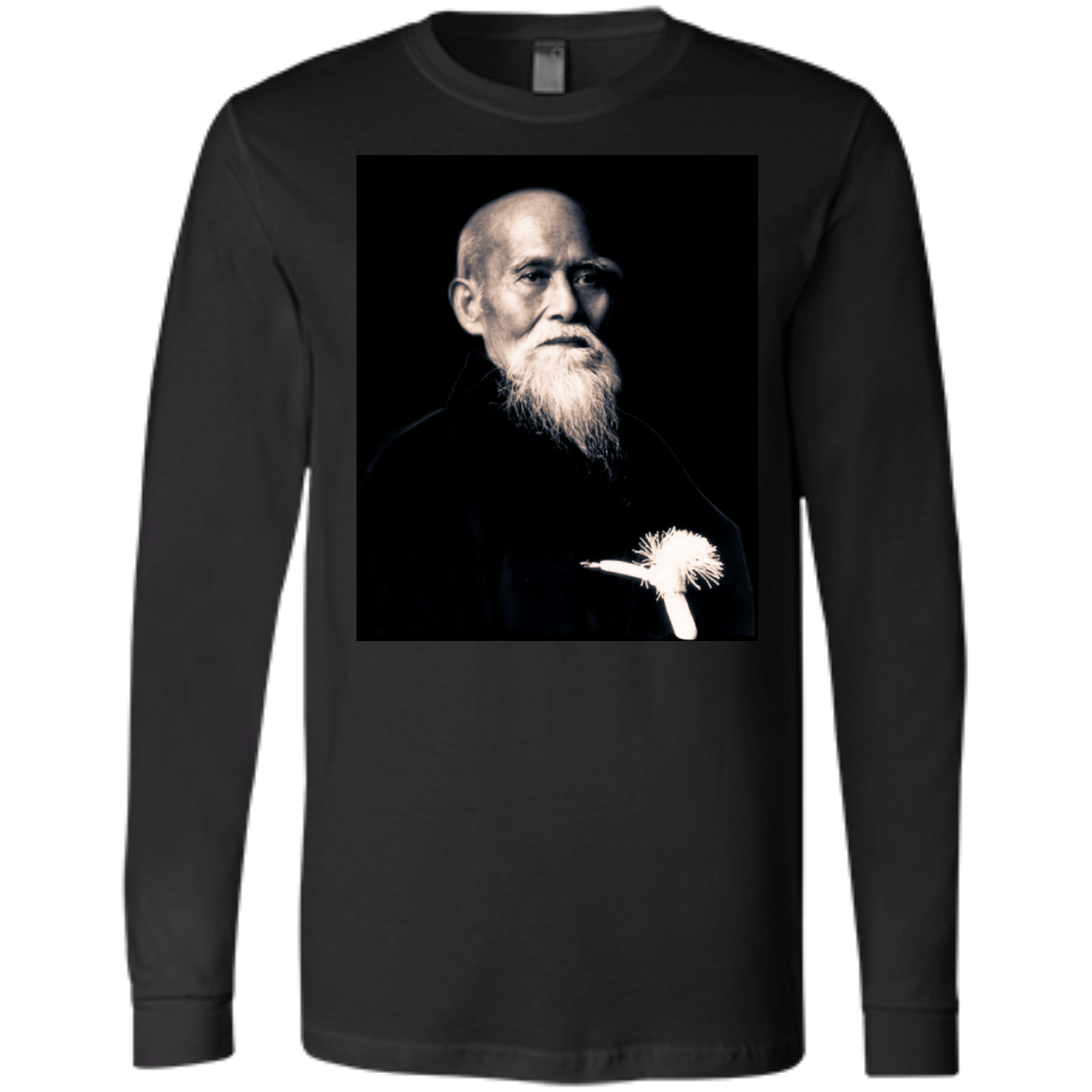 Ōsensei Morihei Ueshiba Long Sleeve - Martial Arts, Brazilian Jiujitsu, Karate, Muay Thai Shirts