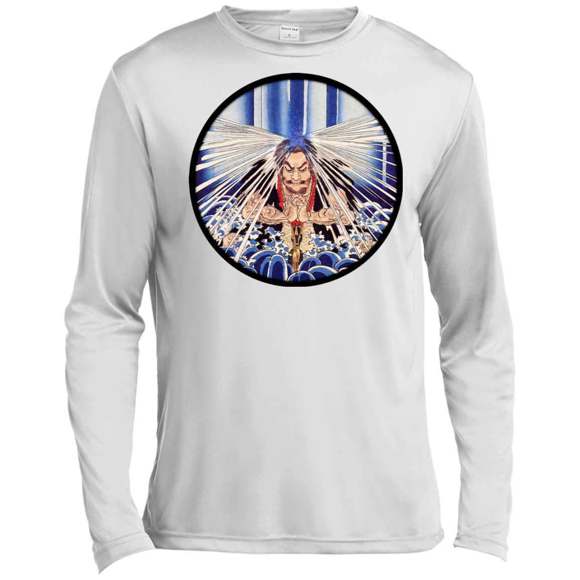 Meditating Samurai Long Sleeve Moisture Wicking - Martial Arts, Brazilian Jiujitsu, Karate, Muay Thai Shirts