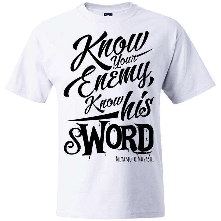 """Know Your Enemy"" Musashi Quote T-Shirt - Martial Arts, Brazilian Jiujitsu, Karate, Muay Thai Shirts"