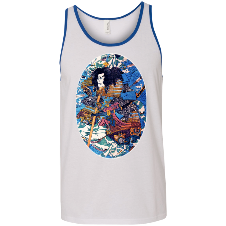 Samurai Riding Waves Tank Top