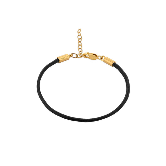 Menē Gold Leather Bracelet