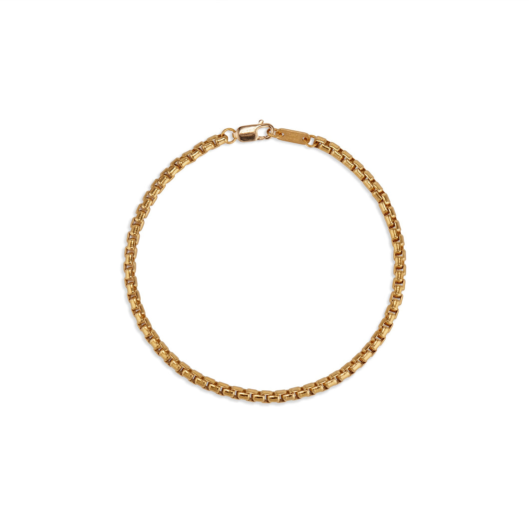 Heavy Rounded Box Chain Bracelet