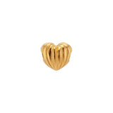 Ribbed Heart Charm