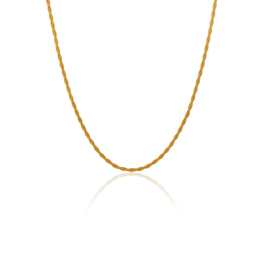 Narrow Twisted Rope Necklace