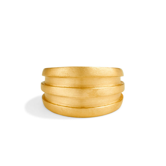 Narrow Groove Ring - Brushed