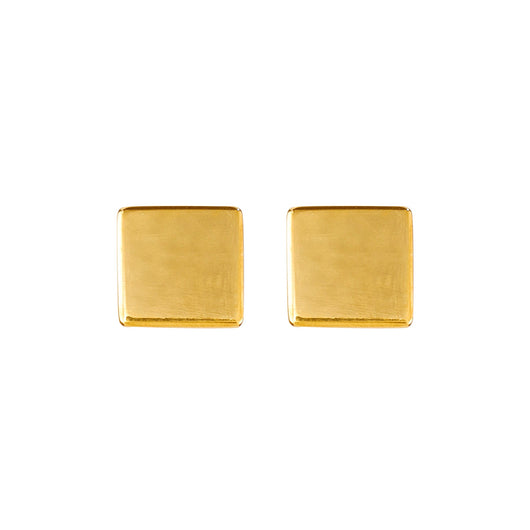 Cube Stud Earrings - Polished