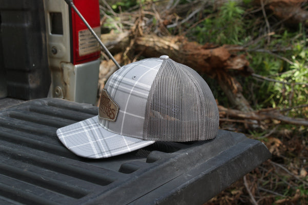 Plaid Gray Patch Hat