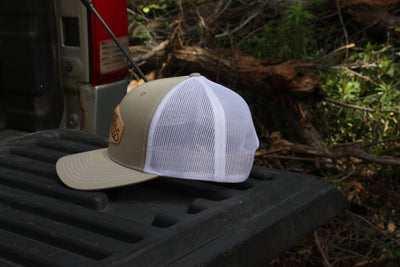 Khaki White Patch Hat