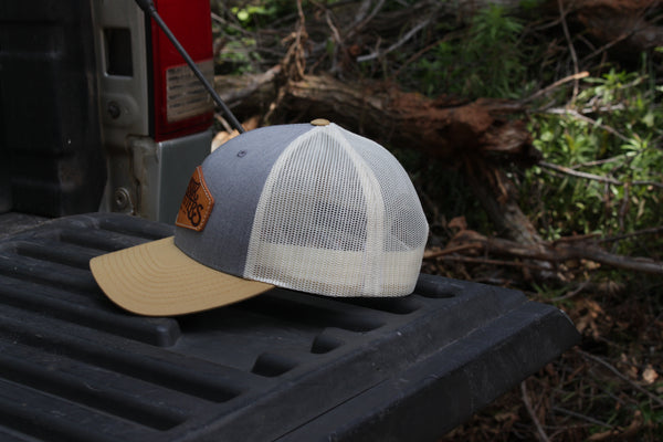 Denim Tan Patch Hat
