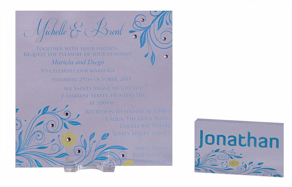 Personalised Acrylic Square Wedding Invitation: Individual Names