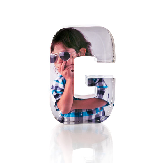 "Personalised Acrylic Letter ""G"" Photo Block"