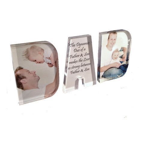 Personalised Acrylic Word - DAD Design #3