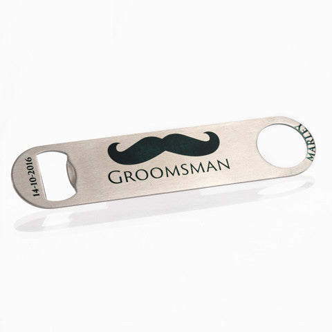 Personalised Stainless Steel Bottle Opener - The Groomsman