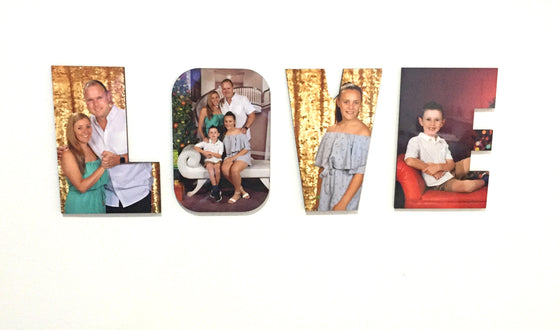 Sublimation HB Personalised LOVE letters