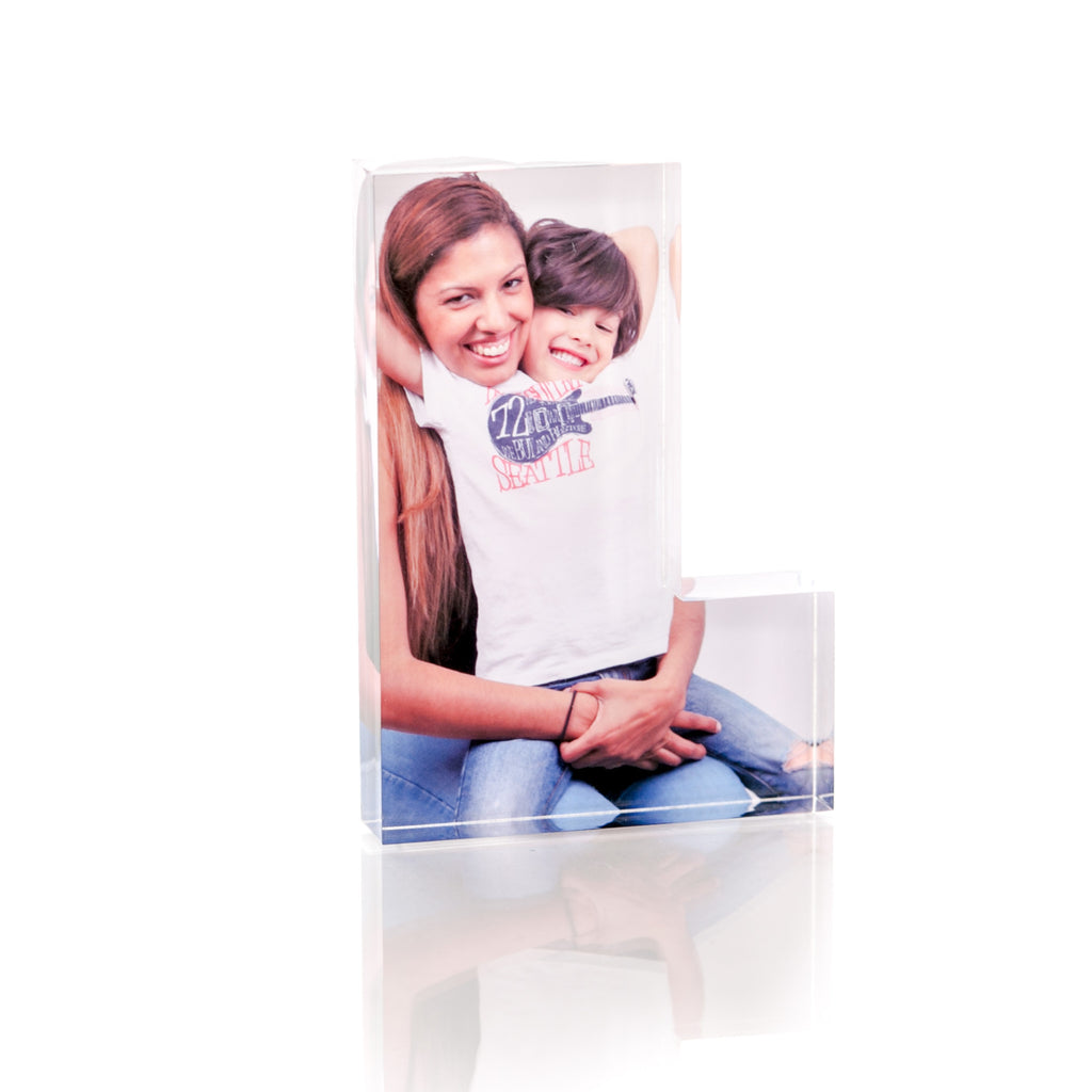 "Personalised Acrylic Letter ""L"" Photo Block"