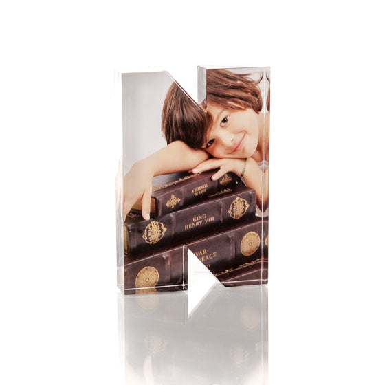 "Personalised Acrylic Letter ""N"" Photo Block"