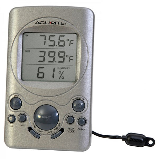 Digital Thermometer with 10-foot Temperature Sensor Probe and Humidity