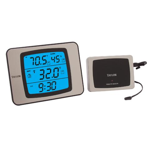 Digital Thermometer with Wireless Sensor Probe and Humidity
