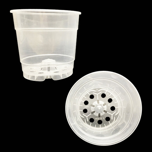 Round Plastic Pots - Crystal Clear