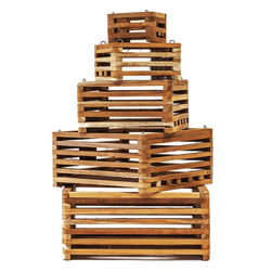 Square Wood Baskets