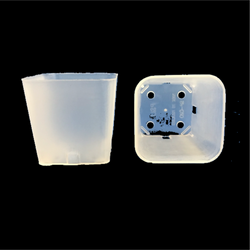 Square Plastic Pots - Clear