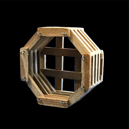 Octagonal Hardwood Baskets