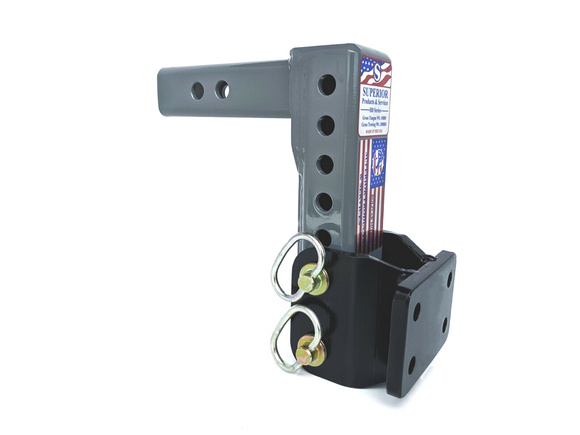 Superior Adjustable Pintle Mount Adapter Hitch 10,000lb