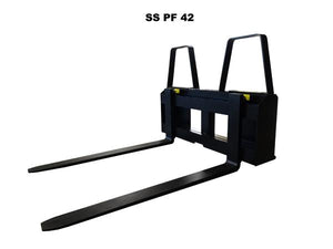 Skid Steer Pallet Fork Attachment 4000 lb Capacity